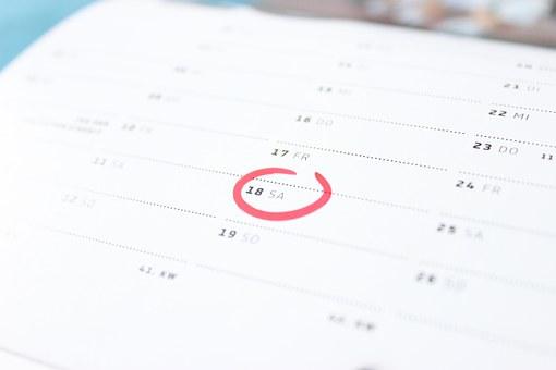 calendar saturday